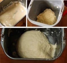 dough in bread machine