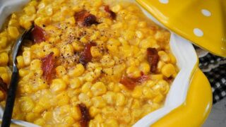 Creamed Corn with Maple Bacon