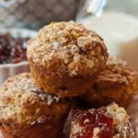 Strawberry Balsamic Muffins: Goat Cheese is the Secret