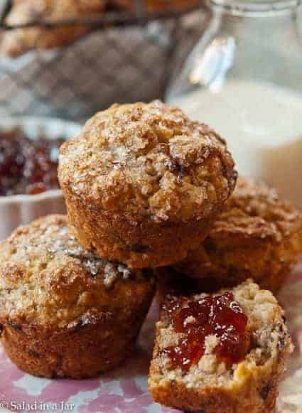Strawberry, Balsamic and Goat Cheese Muffins