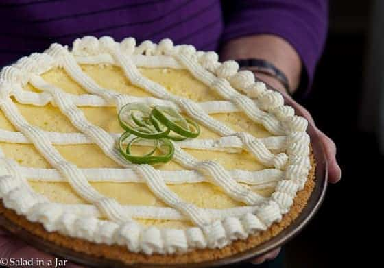 Baked Key Lime PIe--a cool summertime treat.