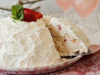Strawberry Snowball Cake