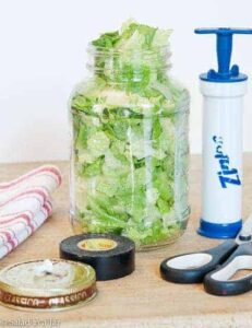 How To Vacuum-Pack Salad in a Jar for Less Than $6