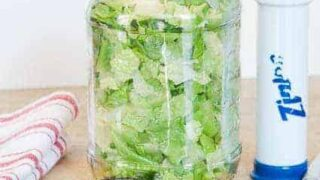 How To Vacuum-Pack Lettuce for Less