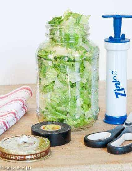 How To Vacuum-Pack Salad in a Jar for Less Than $6--an alternative to a counter top vacuum-pack system