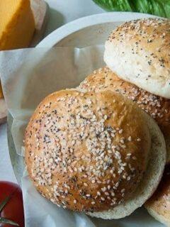 7-Grain Homemade Hamburger Buns (Bread Machine)
