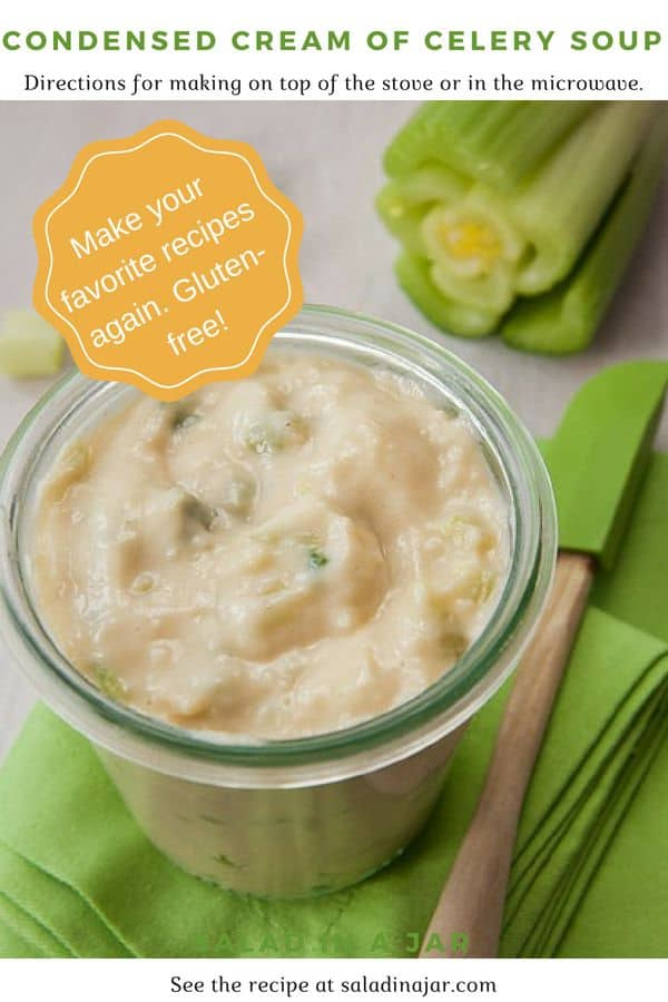 Pinterest image for Condensed Cream of Celery Soup