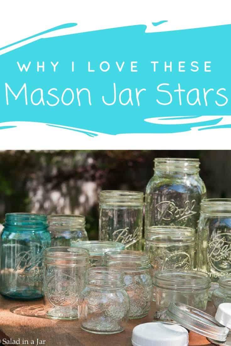 many and various Mason jars