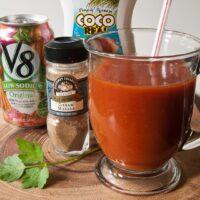 Hot Coconut V-8 Drink