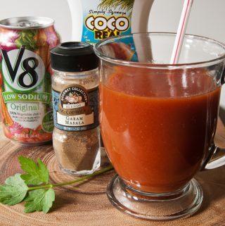 HOT COCONUT V-8--in mug ready to drink