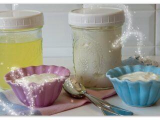 yogurt made with whey drained from yogurt