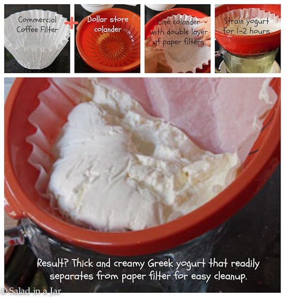 STRAINing YOGURT WITHOUT USING CHEESECLOTH
