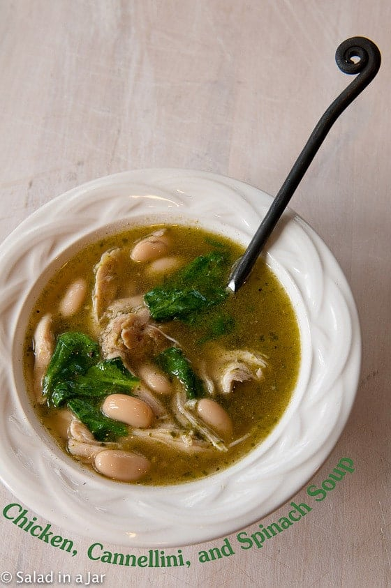 CHICKEN, CANNELLINI, AND SPINACH SOUP
