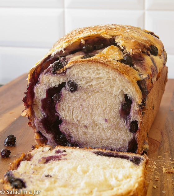 Blueberry-Stuffed Sally Lunn Bread