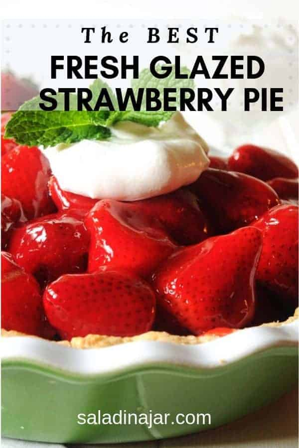 Aunt Marg's Fresh Strawberry Pie is a not-too-sweet fruit dessert formulated for maximum enjoyment of fresh strawberries. Easy pat-in-the-pan crust takes it over the top.