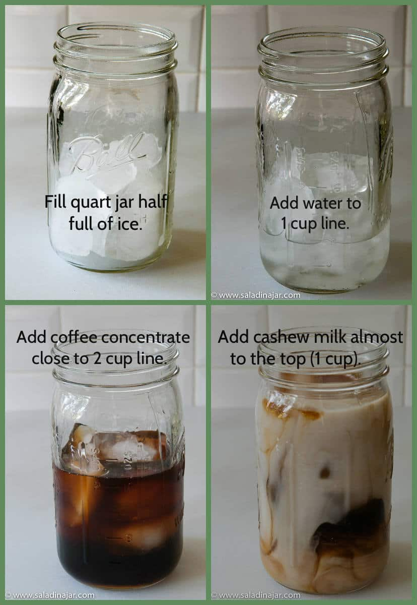 How to make Iced coffee latte with cashew milk