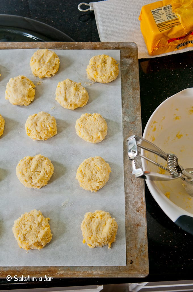 Grain Free Cheese Biscuits made with almond flour and Cheddar cheese