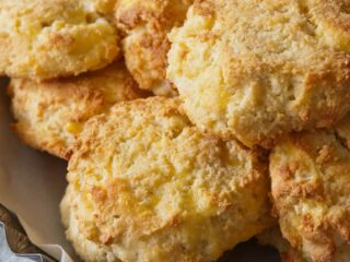 Cheddar Cheese Drop Biscuits with Yogurt and Almond Flour--Low Carb