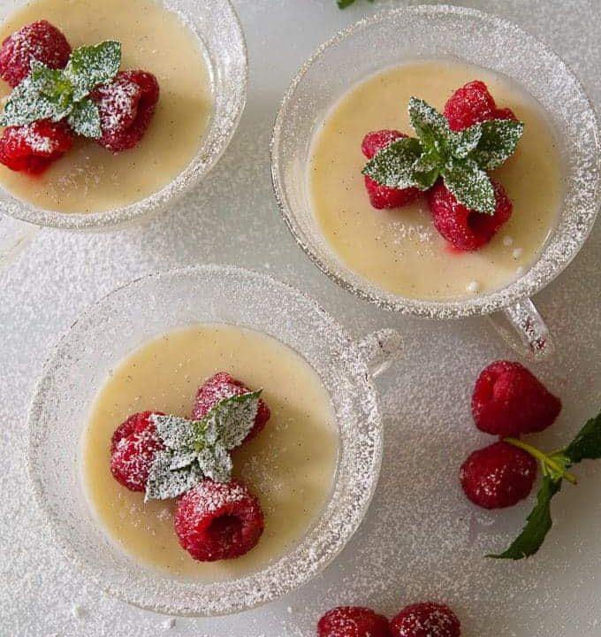 lemon posset, vanilla bean, dessert, easy, light, summer, ladies, luncheon
