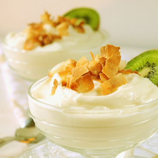 Coconut-Ginger Greek Yogurt