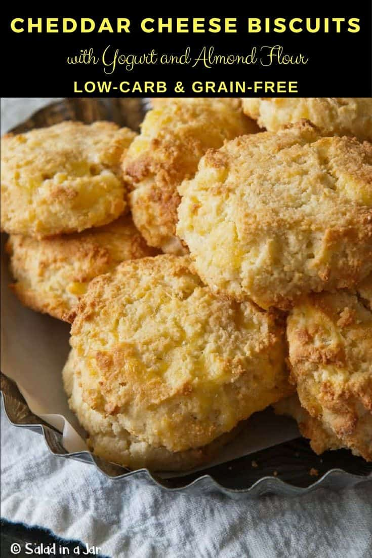 CHEDDAR CHEESE Biscuits with Yogurt and Almond Flour (Low-Carb & Grain-Free)