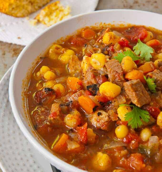Pork and Hominy Stew, An Instant Pot Recipe