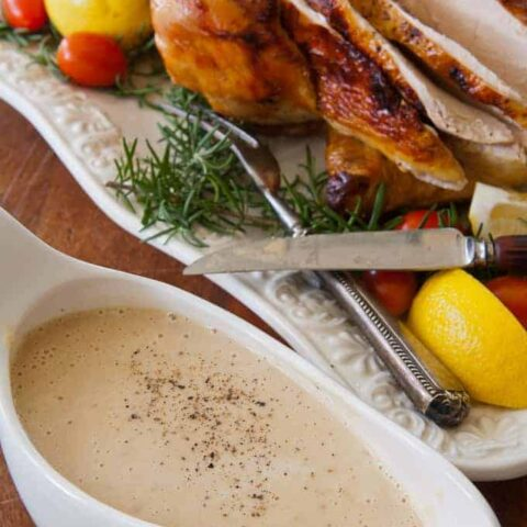 Roasted Rosemary and Lemon Chicken with Low-Carb Gravy