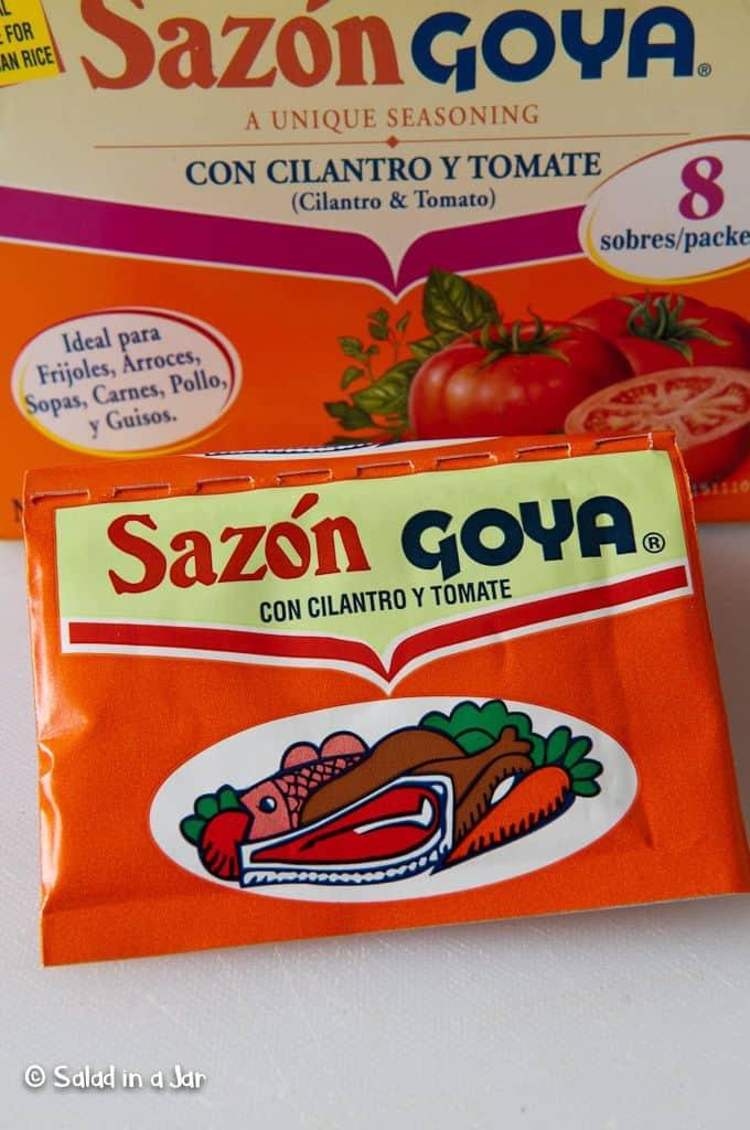 Sazon Goya con cilantro y tomato