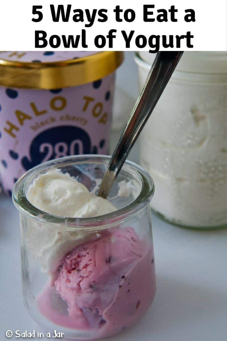 Halo ice cream combined with plain yogurt