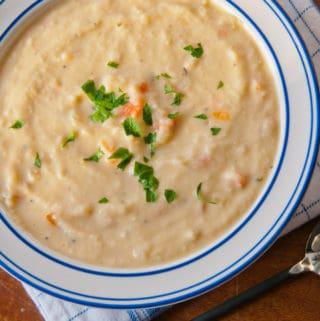 Cheesy Cauliflower Chowder in bowl