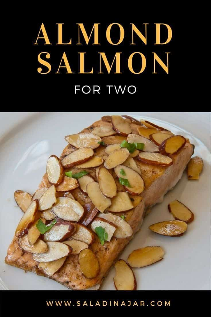 Salmon for weeknights with only 3 ingredients. My favorite way to prepare salmon. #salmon #seafood #almonds #dinner #supper #simple