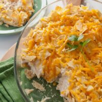 Cheese-Crusted Creamed Chicken and Chips