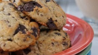 Grain-Free, Reduced-Carb Chocolate Chip Cookies with Toasted Pecans