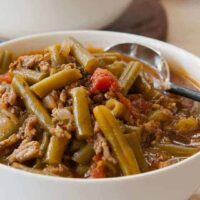 Green Chile Stew with Green Beans