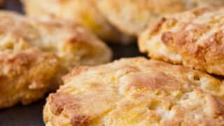 Cheddar Cheese Biscuits with Yogurt and Almond Flour (Grain-Free)