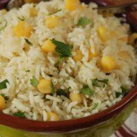 Cilantro and Hominy Rice
