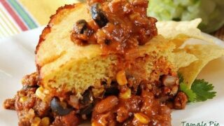 A Tamale Pie with Cornbread Topping