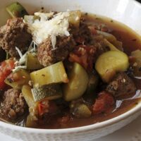 Meatball Ratatouille Soup