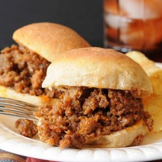 Sloppy Joe Sliders on Whole Wheat Rolls