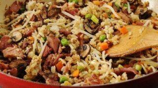 Ham and Veggie Fried Rice