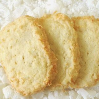 Coconut Shortbread Cookies