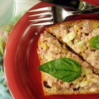 Ham Salad Sandwich Spread with a Basil Twist