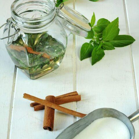 Cinnamon Basil Syrup