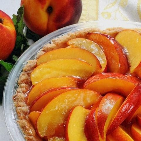 Fresh Glazed Nectarine (or Peach) Pie