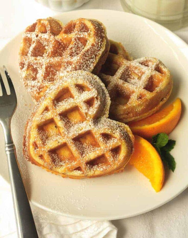 Orange Waffles with Pecans Recipe