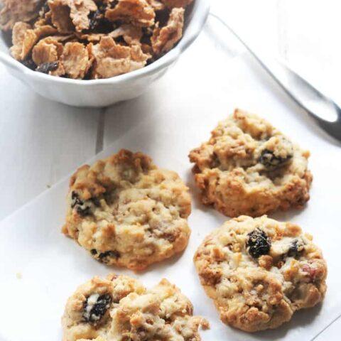 Raisin Bran Crunch Cookies