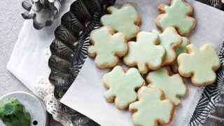 Shamrock Shortbread Cookies