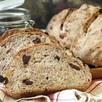 Rosemary Yeast Bread with Dried Cherries and Pecans (A Bread Machine Recipe)