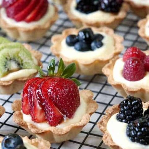 Mini Fruit Tarts with Vanilla Pastry Cream