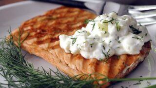 Greek Yogurt and Cucumber Sauce for Fish